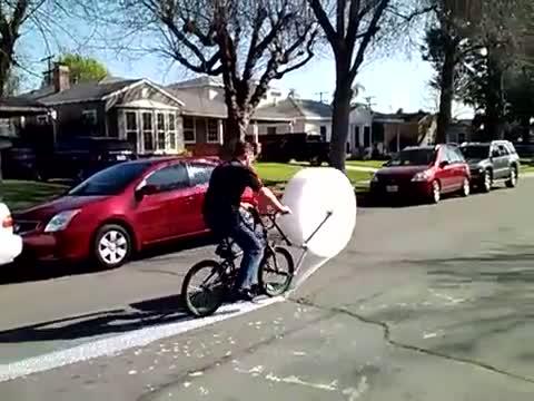 Vélo à papier bulle